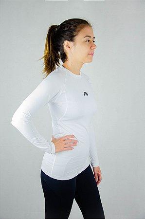 Camisa Segunda Pele Manga Longa Branca Unissex