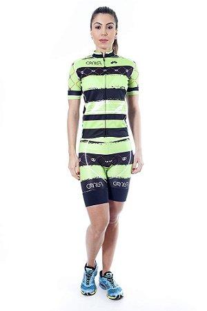 Camisa Ciclismo Feminina Elite Verde