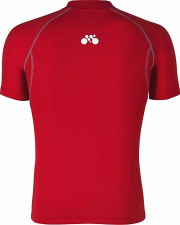 Camisa Segunda Pele Manga Curta Vermelho