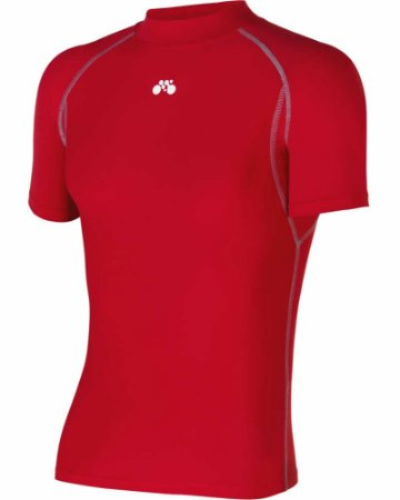 Camisa Segunda Pele Manga Curta Vermelha Unissex