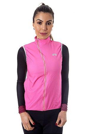 Colete Corta Vento Feminino Premium Pink