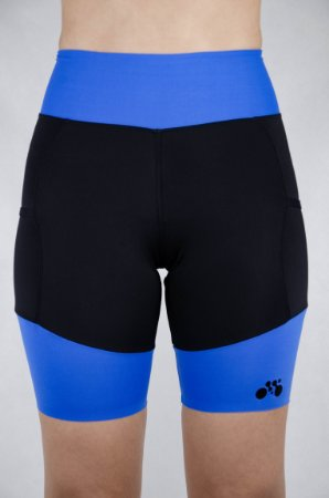 Bermuda Triathlon Feminina Preto Azul Royal