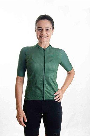 Camisa Ciclismo Feminino Basic 2021 Colors Verde