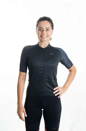 Camisa Ciclismo Feminina Basic 2021 Exclusive Preto