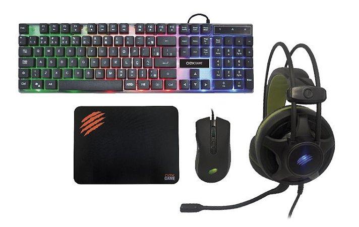 Combo Mouse + Mousepad + Teclado + HeadSet Argos TM 304