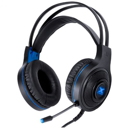 Headset Gamer Vx Gaming Lugh Led Azul Usb Com Microfone Flexivel - Gh300
