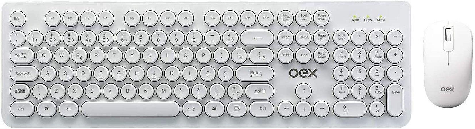 Combo Mouse + Teclado POP+ Branco - TM410