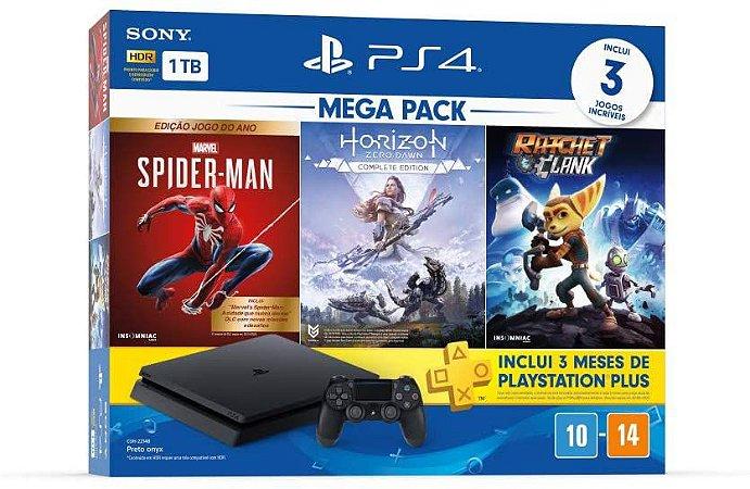 PlayStation 4 Mega Pack 15 - Spider-Man: Goty Edition, Horizon Zero Dawn: Complete Edition e Ratchet & Clank