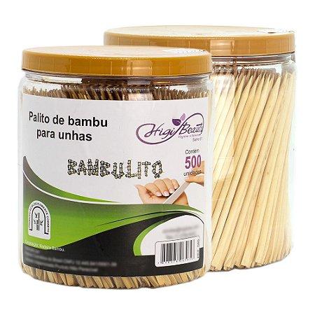 Palito para unha - Bambu - ponta/chanfro 500 unidades