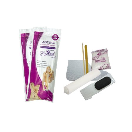 Kit Pedicure com creme, lixa, palito, toalha e refil - 50 unid + GRÁTIS 01 suporte de lixa pés