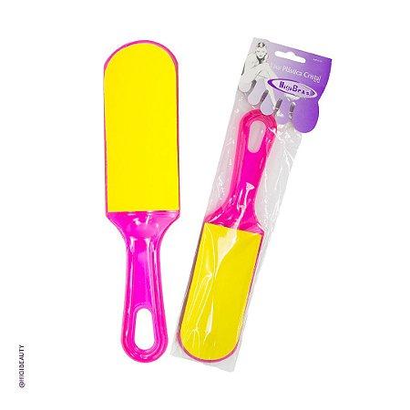 Lixa para pés - plástica acrílica - Cristal - 6 unidades
