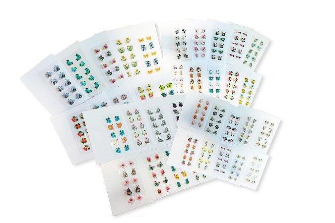 Adesivos de unhas 3D - 100 unidades