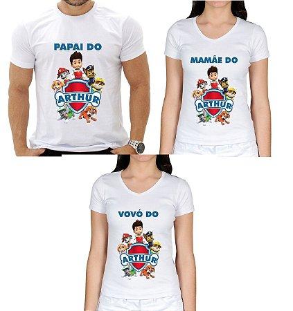 Kit 3 Camisetas Personalizadas para aniversário