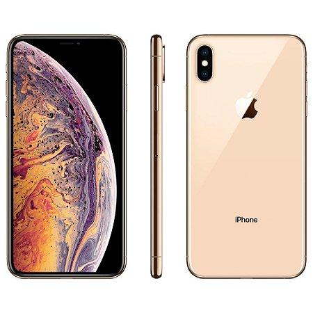 """iPhone XS Max Dourado 256GB, Tela Super Retina HD de 6,5"""", iOS 12, Dupla Câmera Traseira, Resistente à Água e Reconhecimento Facial - Apple"""