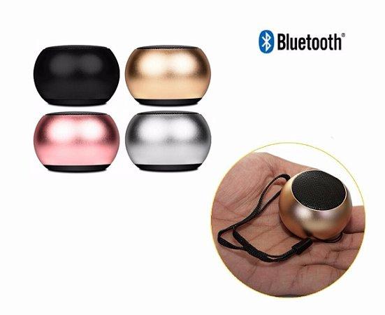 Caixa de Som Portátil Bluetooth 3W  Mini Speaker Metal