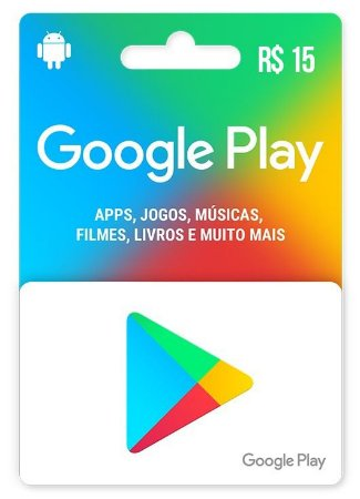 Google Play Gift Card (BR) Android R$ 15,00