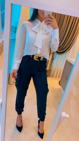 Camisa laço - Branca