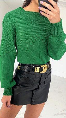 Tricô Relevo - Verde Bandeira