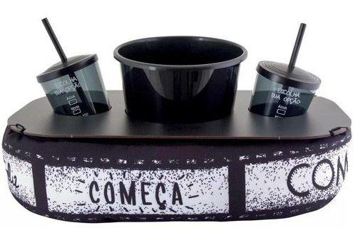 Almofada De Pipoca - Cinema Preta E Branca