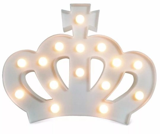 Luminária Coroa Branca
