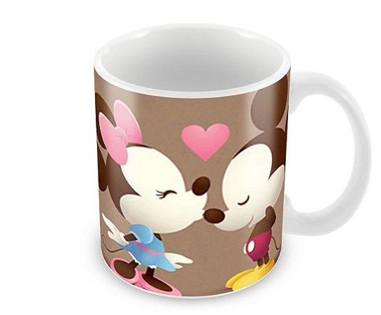 Caneca Beijinho Café Mickey e Minnie