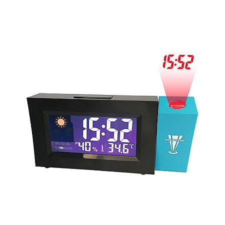 Relógio Despertador Digital Com Projetor De Horas Termômetro