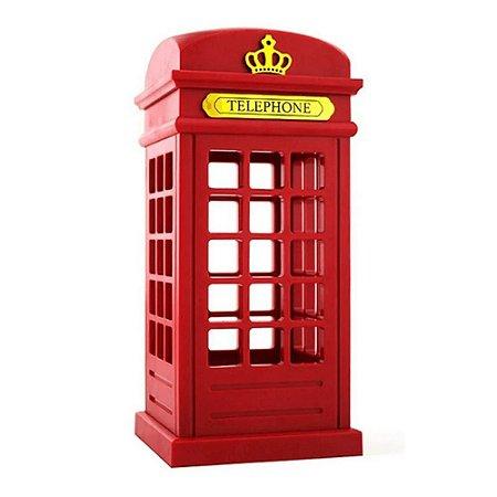 Luminária Abajour Led Cabine Telefônica Londres de Mesa Decorativa Touch
