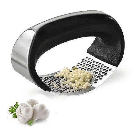 Espremedor de Alho - Triturador Amassador de Alho Aço Manual Com Pressão Garlic