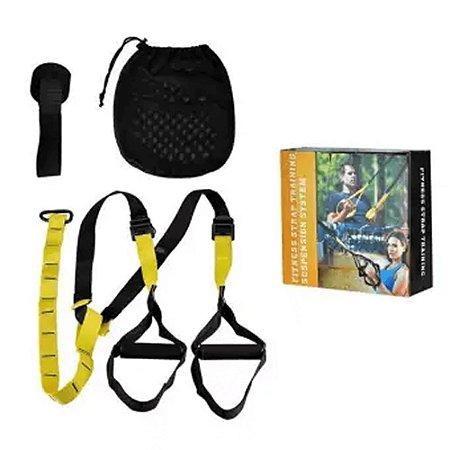 Fita Treinamento Suspenso / Suspensão Tipo Trx /kit Completo Suporte / Teto Parede