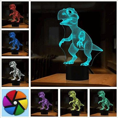 Luminária de Mesa de LED 3D Criativa Dinossauro / Luz Noturna Decorativa