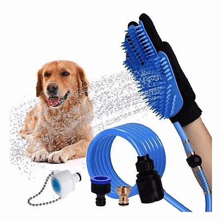 Mangueira Luva De Banho Petshop Cães E Gatos Luva Massageadora Banho Animais