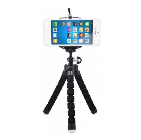 Mini Suporte Tripe De Mesa Escalavel Para Celular Gira- 360º Kit Youtubers Flexivel