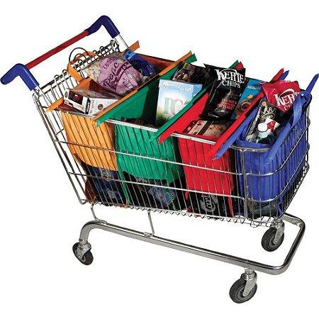 Kit Sacolas Reutilizáveis Ecologicas Para Carrinho Do Mercado P/entrega