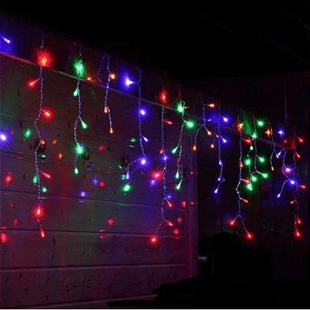Pisca Pisca Cascata 100 Leds Colorida Natal Decoração Festas Varanda Funções