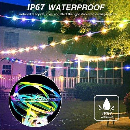 Mangueira Led Natal Iluminação Luz Decoração Rolo 10m  Pisca 110v 220v