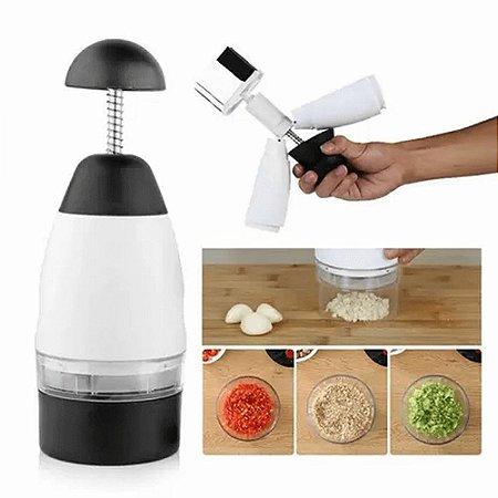 Processador de Alimentos Slap Chop Dicer Cortador De Legumes Alho Manual Cozinha