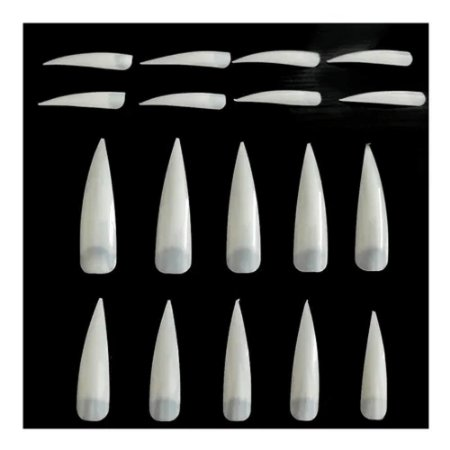 100 unidades Tips Estileto Stiletto para Alongamento de Unha Acrigel