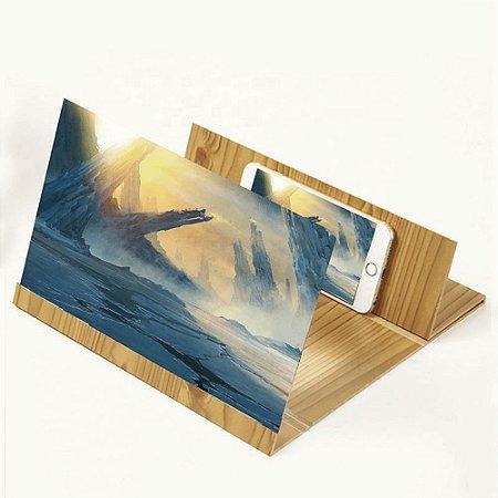 Lupa para tela de Celular 3D/Ampliador Suporte 12 Polegadas Dobrável HD