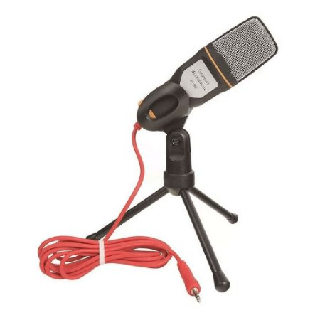 Microfone SF-666 Condensador Estéreo de 3,5mm para Computador e Celular