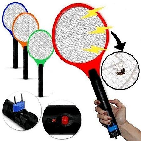 Raquete Elétrica Mata Mosquito Recarregável Bivolt Mata Mosquito Dengue Insetos