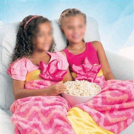 Manta Saco De Dormir Infantil  Cauda Rabo de Sereia