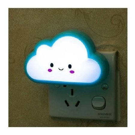 Luminária Led De Tomada Nuvem Abajur Infantil Colorida