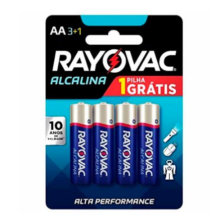 Pilha Alcalina AA4 Rayovac