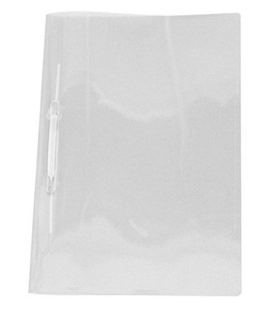 Pasta Grampo Trilho Plástica Polibras Cristal