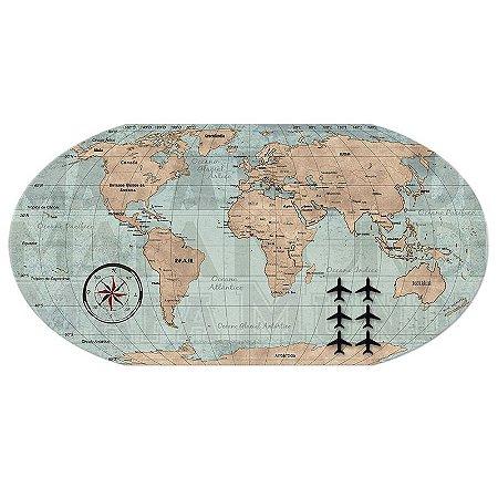 Painel Mapa Vintage 43x85cm