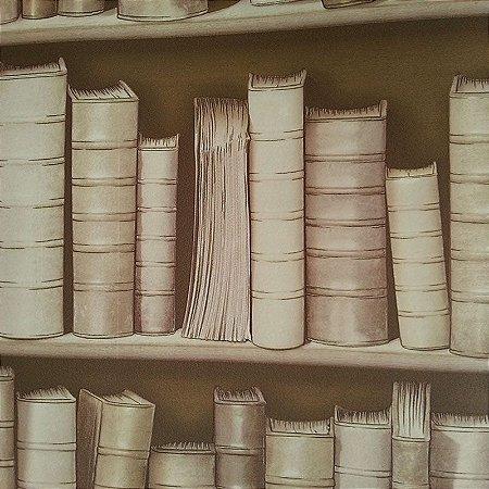 Papel de Parede com desenho de Livros 3D