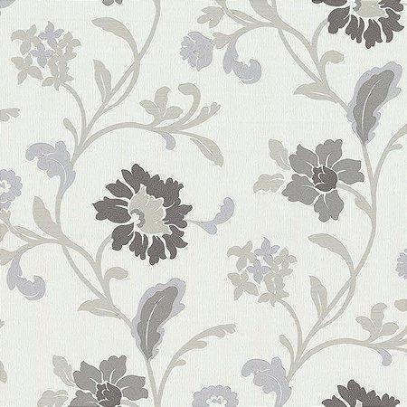 Papel de Parede Floral Lilas