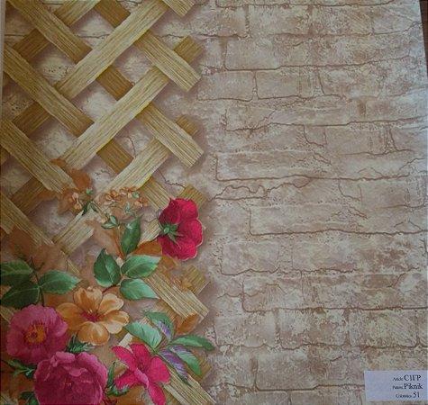 Papel De Parede Rustico e Floral