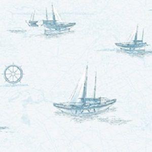 Papel de Parede Marítimo Azul