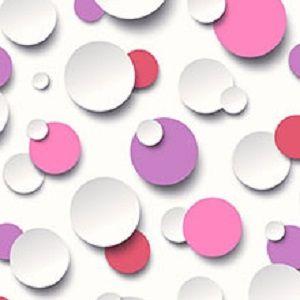 Papel de Parede Bolinhas coloridas 3D